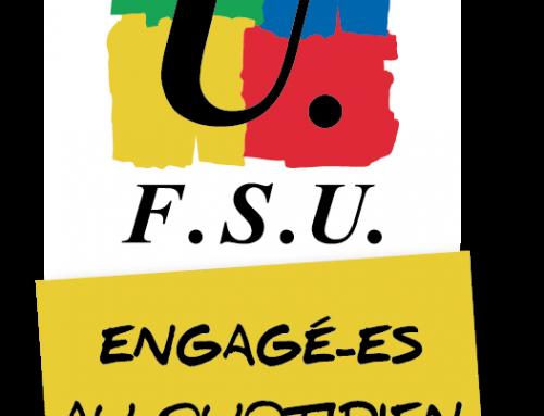 La FSU signe une demande de report des instances.