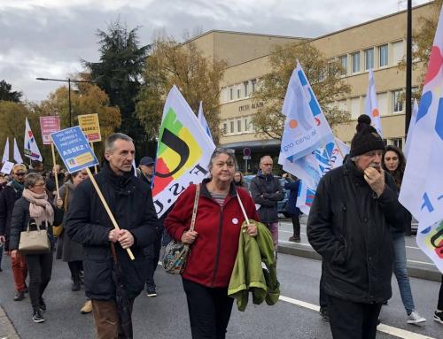 12 novembre 2018 : Mobilisation contre les suppressions de postes dans l'Education nationale