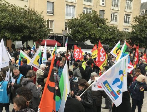Les retraités dans les rues d'Alençon le 11 avril 2019