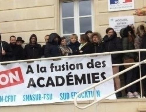 La fusion des académies c'est toujours NON