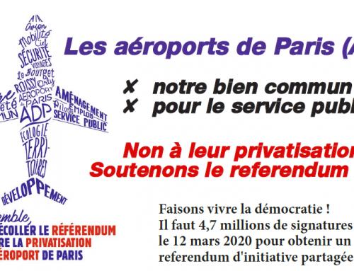 Signez contre la vente des Aéroports de Paris