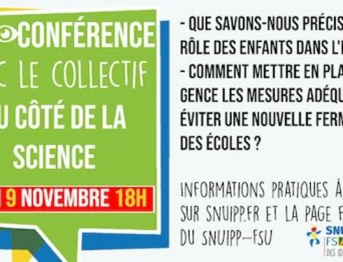 Replay Visio-Conférence du SNUipp-FSU : du côté de la science !
